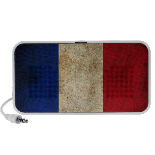 France Grunge Flag Mini Speaker