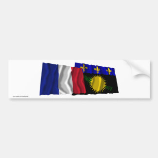 France & Guadeloupe waving flags Bumper Sticker