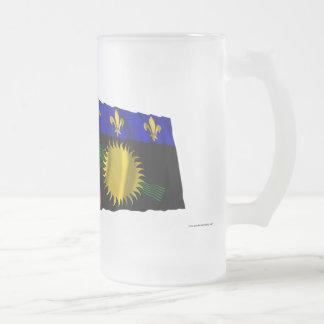 France & Guadeloupe waving flags Mugs