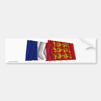 France & Haute-Normandie waving flags Bumper Sticker