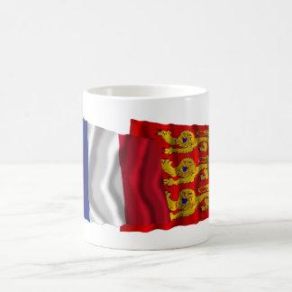 France & Haute-Normandie waving flags Coffee Mug