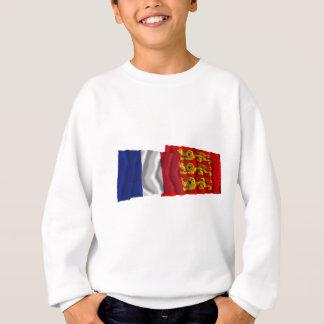France & Haute-Normandie waving flags Sweatshirt