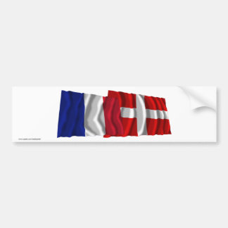 France & Haute-Savoie waving flags Bumper Sticker