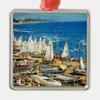 France, Hyeres, Var, Port and Marina Metal Ornament