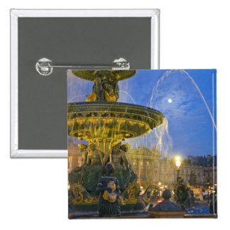 France, Ile de France, Paris, Concorde place, 2 Inch Square Button