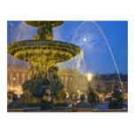 France, Ile de France, Paris, Concorde place, Postcard