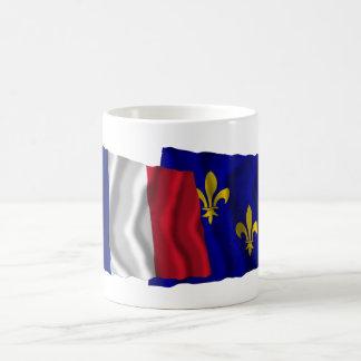 France & Île-de-France waving flags Coffee Mug