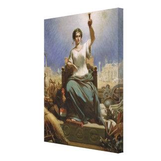 France Illuminating the World Canvas Print