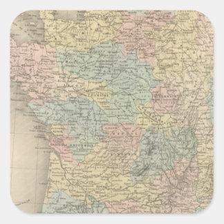 France in 1789 2 square sticker
