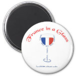 France in a Glass Magnet