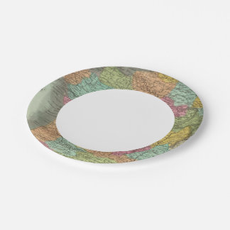 France In Departments 2 Paper Plate