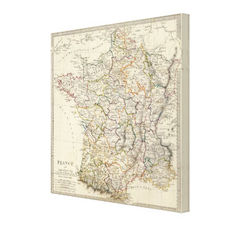 France in provinces canvas print
