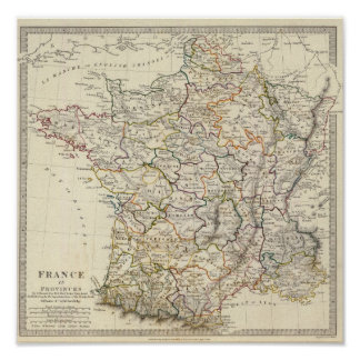 France in provinces poster