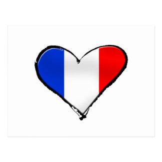 France Je Taime flag of France I heart France gift Postcard