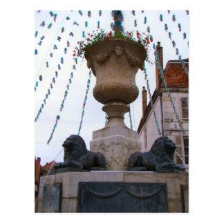 France, Jura, Arbois; Decorated fountain Post Card