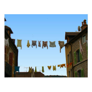France, Jura, Arbois, Hanging out the washing Postcard