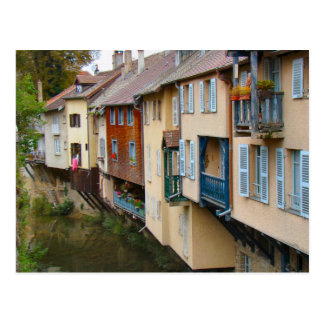 France, Jura, Arbois,Houses by the river 2 Post Card