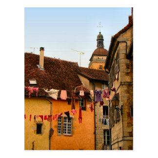 France, Jura, Arbois; Houses in town Post Card