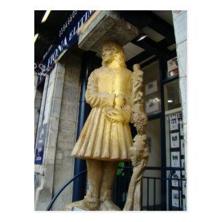 France, Jura, Arbois; Winemaker statue Post Card