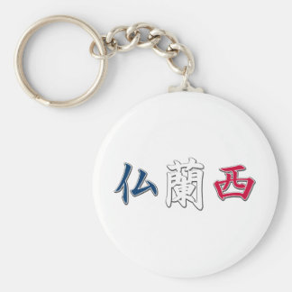 France Kanji Keychain