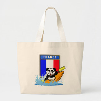 France Kayaking Panda Jumbo Tote Bag