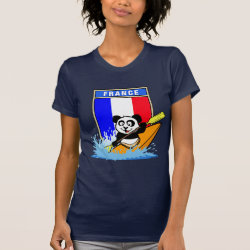 Women's American Apparel Fine Jersey Short Sleeve T-Shirt with France Kayaking Panda design