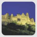 FRANCE, Languedoc Carcassonne Square Sticker