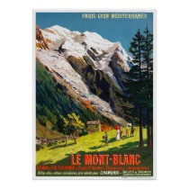 France Le Mont Blanc Travel Poster Restored