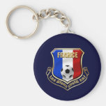 France les Bleus Logo Shield Emblem Basic Round Button Keychain