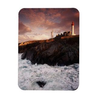 France, lighthouse at dawn magnet