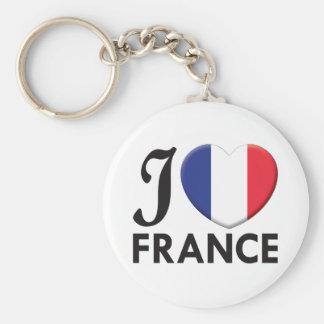 France Love Keychain