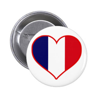 France Love Pinback Button