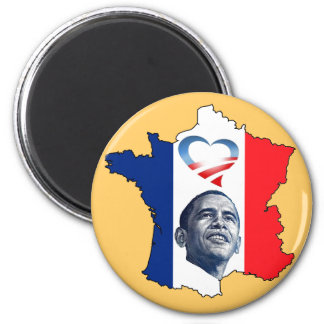 France Loves Obama Magnet