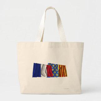 France & Lozère waving flags Bag