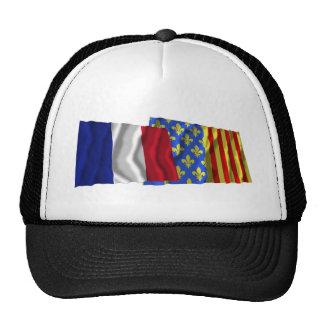 France & Lozère waving flags Hats