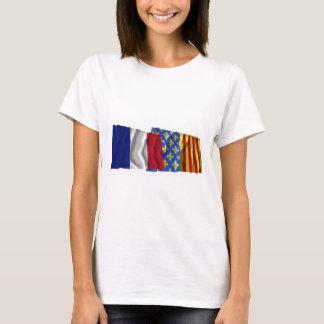 France & Lozère waving flags T-Shirt
