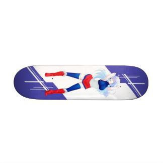 France Manga girl dressed in Flag - French - Skate Board Deck