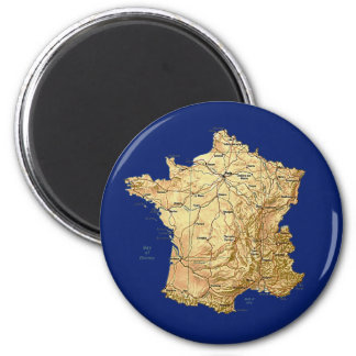 France Map Magnet