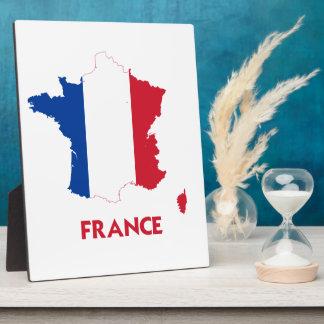 FRANCE MAP PLAQUE