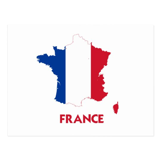FRANCE MAP POSTCARD