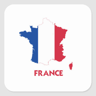 FRANCE MAP SQUARE STICKER