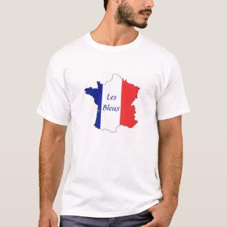France Map Tricolor Les Bleus T-Shirt