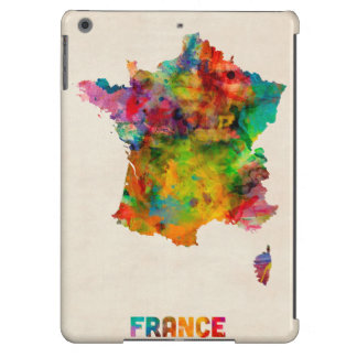 France Map Watercolor Case For iPad Air
