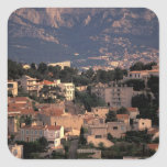 France, Marseille, Provence. Southern suburbs Square Sticker