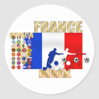 France MMX 32 Qualifying countries gifts Classic Round Sticker