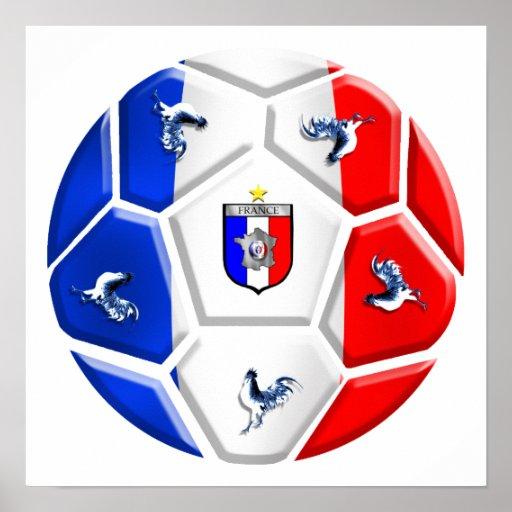 France modern soccer ball football flags print