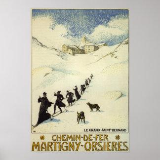 France - Monks Skiing Print