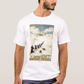 France - Monks Skiing T-Shirt