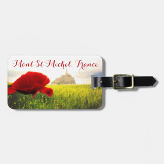 France Mont St Michel Customizable Luggage Tag