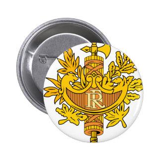 France National Emblem 2 Inch Round Button